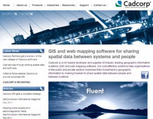 Web design agency Hertfordshire develops Cadcorp website