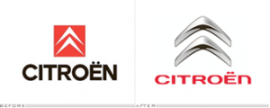 The new Citroen logo was launched to celebrate its 90th anniversary.