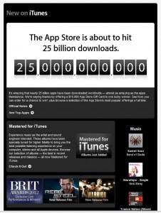 Marketing Zone insights - iTunes set to hit 25 billion downloads