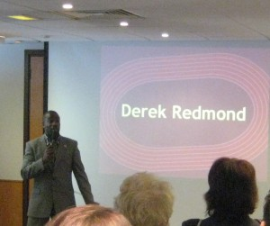 Inspiration from Derek Redmond, GB World Champion, at the Best Business Expo