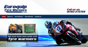New website launched by marketing agency hertfordshire Marketing Zone for Tyre Warmers