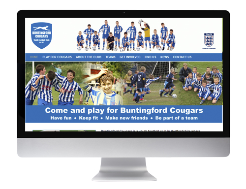 Website design Buntingford - Buntingford Cougars Youth Football Club