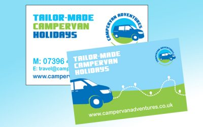 Logo and website for Campervan Adventures