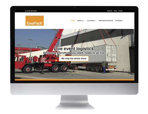Website design Buntingford - EwePack
