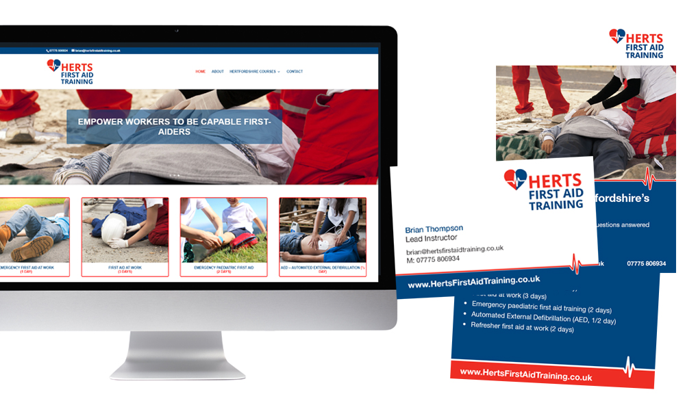First Aid Training marketing - Launch pack created for new business