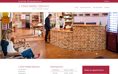Seen the new website for town's optician?