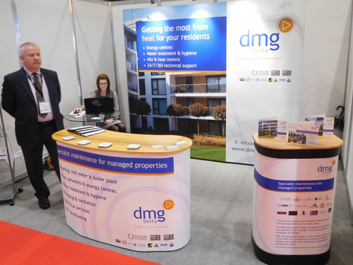 Marketing Exhibition Stand Zone : One kit three exhibitions for dmg delta marketing zone