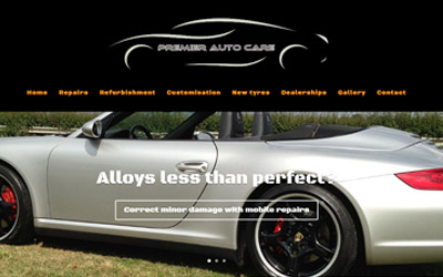 Virtual showroom website, for the love of cars