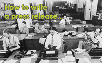 How to write a press release – 12 golden rules